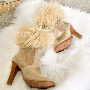 Marc Jacobs suede and shearling booties